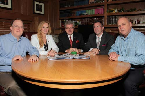 Left to right: Bryan Schultz, Charity Beall, Rev. Dr. Howard Russell, Ryan McGraw, Rich Bochart