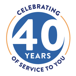 40 years of service to you